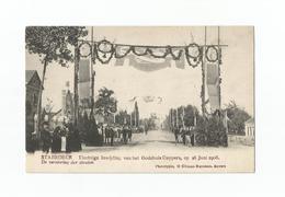 STABROECK.- Inwijding Godshuis Cuypers Op 28 Juni 1908. De Versiering Der Straten. - Stabroek
