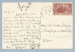 N°318 Et 319 Sur CP De Cannes Vers Champagne Au Mont D' Or Et Sur Grande Enveloppe Voir Scans - Postmark Collection (Covers)