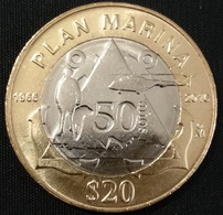 2018 MEXICAN NAVY PLAN New BIMETALLIC $20 Coin, Uncirculated, FREE Shipping Included Worldwide - Mexico