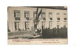 STABROECK.- Inwijding Godshuis Cuypers Op 28 Juni 1908. Mgr. Mercier, Verlaat De Pastorij. - Stabroek