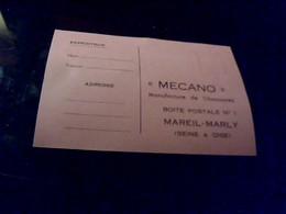 Cp Publicitaire MECANO  Manufacture De Chaussures A Mareil  Marly Annee 50/60 - Autres