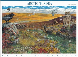 US 2003 Sheet Wildlife Of Arctic Tundra,Nature Of America 5th Issue,Scott # 3802,VF-XF MNH** ,Self-Adhesive - Sheets
