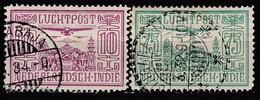 NIED. INDIEN 1928 - MiNr: 166 + 169   Used - Niederländisch-Indien