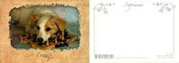 Chiens Joueurs D'échec - Houtland - Impression - Chiens