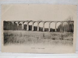Coye. Pont Viaduc. Passage Du Train - France