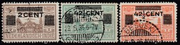 NIED. INDIEN 1934 - MiNr: 201+203+204  Used - Niederländisch-Indien