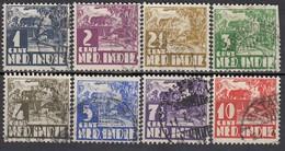 NIED. INDIEN 1934 - MiNr: 205-212 Komplett  Used - Niederländisch-Indien
