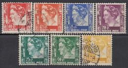 NIED. INDIEN 1934 - MiNr: 213-222 7x  Used - Nederlands-Indië