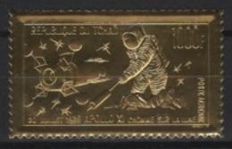 Tchad (1969)  Mi. 281  /  Espace - Space - Apollo - Astronaut - Moon - UNUSUAL Gold - Espacio