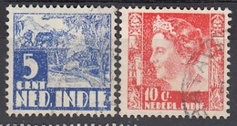 NIED. INDIEN 1938 - MiNr: 265+265  Used - Niederländisch-Indien