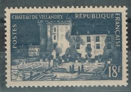 """France 1954 Maury 995 A**  Signé, RARE Variété """"Villandry En Feu"""" Cote 585 Euros - Unused Stamps"""