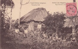 TYPES CREOLES INDIGENES. TAMARIN FALL. ED DES MAGASINES... CIRCULEE 1922 MAURITIUS A BELGICA-RARE- BLEUP - Mauritius