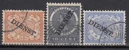 NIED. INDIEN  - MiNr: Dienstmarken 3x  Used - Niederländisch-Indien