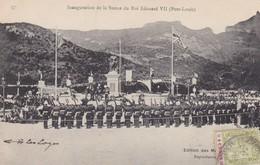 INAGURATION DE LA STATUE DU ROI EDOUARD VII, PORT LUIS. CIRCULEE 1918 MAURITIUS A FRANCE. AUTRE MARQUE-RARE- BLEUP - Mauritius
