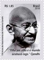 BRAZIL 2018  -  MAHATMA GANDHI: 150 YEARS OF HIS BIRTHDAY  -  MINT - Brazil