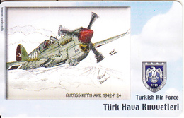 TURKEY(chip) - Airplane, Curtiss Kittyhawk 1942-? 24(50 Units), Used - Avions