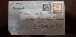 O) 1947 CHILE,CONDOR SCT C36 60c, SEAPLANE SCTO C42 4p, AIRMAIL CERTIFICATE, TO USA - Chile