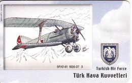 TURKEY(chip) - Airplane, SPAD-61 1926-27 3(50 Units), Used - Army