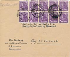 EISENACH - 2.7.48 , Drucksache 10fach Frankatur Nach Eisenach - Sowjetische Zone (SBZ)