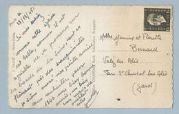 N°690 Marianne De Dulac Seul Sur CP Paris 27/12/45 Oblitération Linéaire Paris - Postmark Collection (Covers)