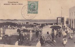 TRIPOLI. BENGASI. MERCATO E MARINA. CIRCULEE 1913 LIBIA A PORTUGAL-RARE- BLEUP - Libië