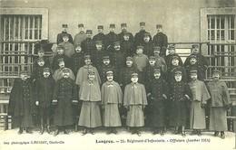 LANGRES - 21 REGIMENT D'INFANTERIE - OFFICIERS JANVIER 1914 - CARTE VIERGE - Langres