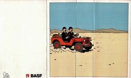 Tintin Carte 3 D - PUB BASF - Bandes Dessinées
