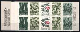Sweden 1968. Flowers Nice Complete Stamp Booklets MNH (**) - Markenheftchen