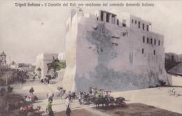 TRIPOLI ITALIANA. IL CASTELO DEL VALI ORA DEL COMANDO GENERALE ITALIANO. ALTEROCA. CIRCA 1910s-RARE- BLEUP - Libië