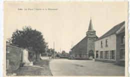 Athis - La Place, L'Eglise Et Le Monument - Edit. G. Buisseret-Cantineau - Honnelles
