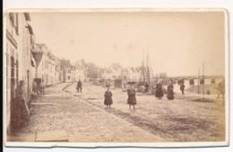 Photo Ancienne CDV XIXe NANTES (44) Circa 1880 Vue Quais De Loire Nantes Photographe Tresorier Toulon - Orte