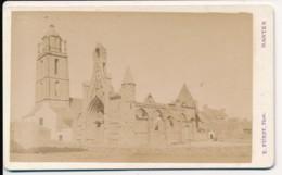 Photo Ancienne CDV XIXe BATZ (44) Circa 1880 Vue De L'Eglise Photographe Fürst à Nantes - Orte