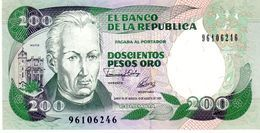Colombia P.429 200 Pesos 1992 Unc - Colombia