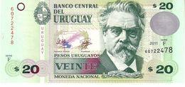 Uruguay P.86b 20 Pesos 2011 Unc - Uruguay