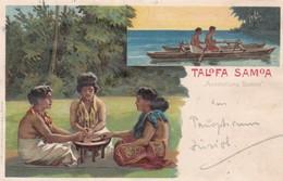 TALOFA SAMOA. AUSSTELLUNG SAMOA. GIESECKE&DEVRIENT. CIRCULEE 1901 TO GLARIUS TIMBRE ARRACHE-RARE- BLEUP - Samoa
