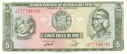 Peru P.99c 5 Soles 15-08-1974 Unc - Pérou