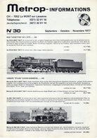 Catalogue METROPOLITAN INFORMATIONS N. 30 Septembre-Novembre 1977 - En Français Et Allemand - Books And Magazines