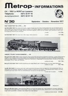 Catalogue METROPOLITAN INFORMATIONS N. 30 Septembre-Novembre 1977 - En Français Et Allemand - Boeken En Tijdschriften