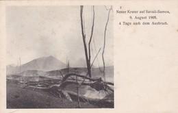 NEUER KRATER AUF SAVAII-SAMOA 1905. ERUPTION-RARISIME- BLEUP - Samoa