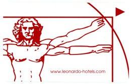 Www.leonardo-hotels.com. Leonardo Da Vinci. Antwerpen. Homme Vitruve. Le Proporzioni Del Corpo Umano Secondo Vitruvio. - Cartes D'hotel