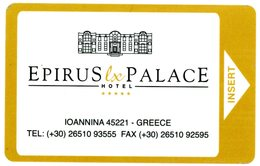 Greece. Hellas. Grèce. Griekenland. Griechenland. Epirus Lx Palace Hotel *****. Ioannina 45221. - Cartes D'hotel