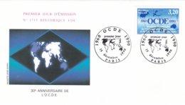 France FDC 1990 OECD (G88-52) - Organizations