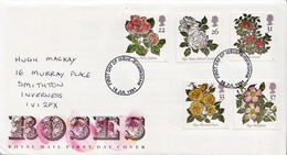 Great Britain Set On Used FDC - Roses