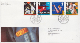Great Britain Set On Used FDC - Stamps