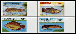 NIGERIA 1991 Fishes MARG.IMPERF.SET:4 - Nigeria (1961-...)