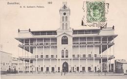 ZANZIBAR. H.H. THE SULTAN'S PALACE. AVEC TIMBRE ET OBLITERE 1905-RARISIME-TBE- BLEUP - Tanzania