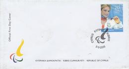 Enveloppe  FDC  1er   Jour   CHYPRE   Médaillée  Aux   Jeux  Paralympiques  D'  ATHENES   2004 - Summer 2004: Athens - Paralympic