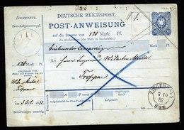 A5720) DR Postanweisung Nicht Ausgeführt Ziegenhals 3.10.82 N. Troppau - Deutschland