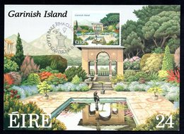 1989 IRELAND NATIONAL PARKS GARDENS GARINISH ISLAND MAXIMUM CARD - Cartoline Maximum