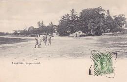 ZANZIBAR. NEGERVIERTEL. AVEC TIMBRE ET OBLITERE 1906-UNIQUE-RARISIME-TBE- BLEUP - Tanzania